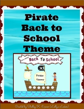 Editable Forms for Back to School Pirate Theme