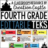 Editable Fourth Grade TEKS - Standards Statements with Vis