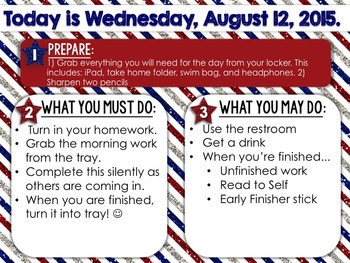 Editable Fourth of July/America/Memorial Day Morning Work/Message Template