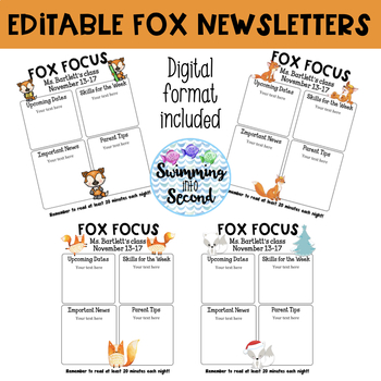 Editable Fox Newsletters