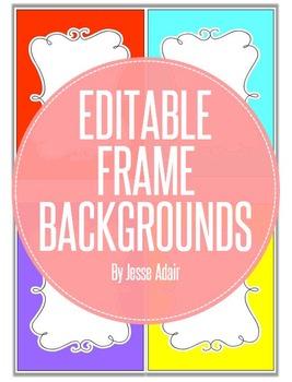 Editable Frame Backgrounds