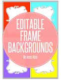 Editable Frame Backgrounds