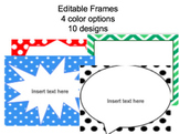 Editable Landscape Frames & Backgrounds