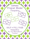 Editable Frayer Model Template/Puzzles