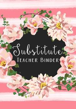 Free Substitute Teacher Binder