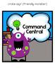 Editable Freebie - Command Central organization