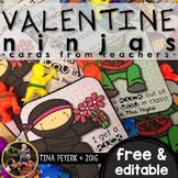 Editable Freebie: Ninja Valentines