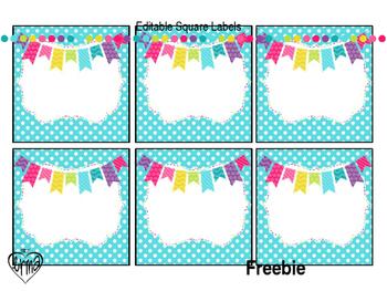 Editable Labels Freebie