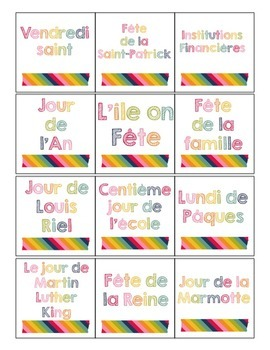 Editable French Calendar