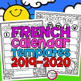Editable French Calendar Templates 2019-2020