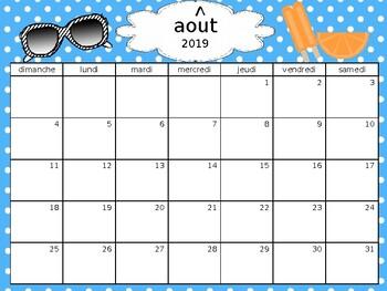 Editable French Calendars 2016-2018/Calendriers en francais
