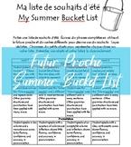 Editable French Futur Proche Summer Bucket List Project