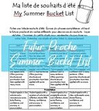 Editable French Futur Proche Summer Bucket List Project