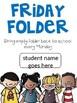 Editable Friday Folder