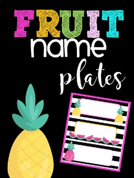 Editable Fruit Name Plates