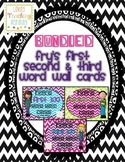 Editable Fry's 100-200-300 Word Wall Cards in Bright Chevr