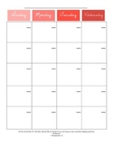 Editable Full Sheet Calendar Pages