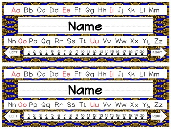 Editable Funky Patterns Nameplates