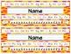 Editable Funky Patterns Nameplates