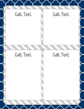 Editable {GRAY | Navy} Newsletter Template
