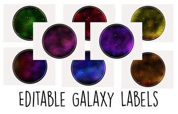 Editable Galaxy Labels - Circles
