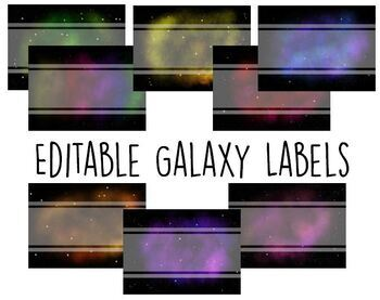 Editable Galaxy Labels - Rectangles