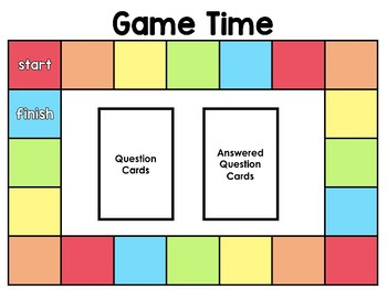 Editable Game Board Template By Teach Fun In First Tpt