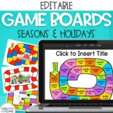 Editable Game Boards MEGA Bundle (24 Editable Game Boards)