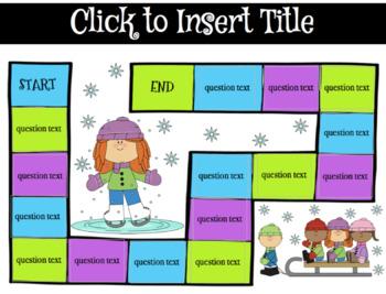 Editable Game Boards Winter Wonderland