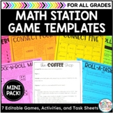 Editable Game Boards and Math Station Activities