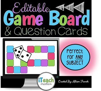 Editable Game Boards for ANY SUBJECT