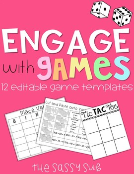 Editable Game Templates: 6 Engaging Classroom Games for AN