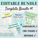 Spanish Editable Games and Activities BUNDLE #1
