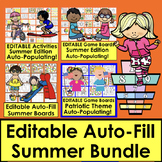 Editable Sight Word Games BUNDLE for Summer School:  Auto