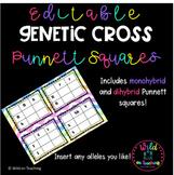 Editable Genetic Cross Punnett Squares