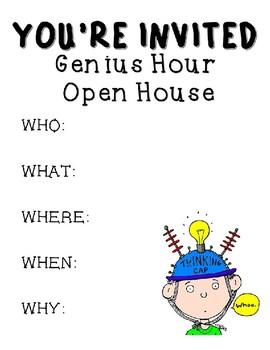 Editable Genius Hour Open House Invitation