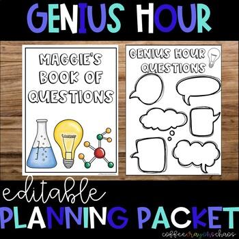 Editable Genius Hour Planning Packet