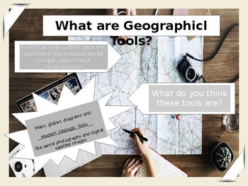 Editable Geographic Tools Powerpoint
