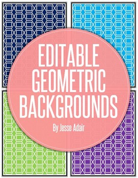 Editable Geometric Backgrounds