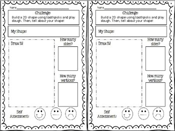 Editable Geometry Challenge Cards for STEM