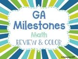 Editable Georgia Milestones Math Review & Color