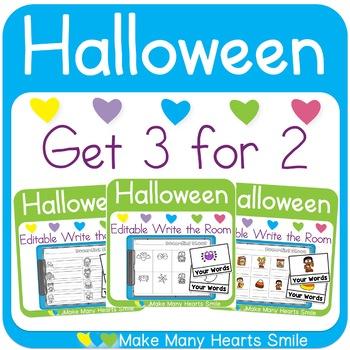 Editable Get 3 for 2: Halloween