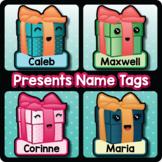 Editable Gift Name Tags, Christmas Present Cubby Tags, Digital and Printable