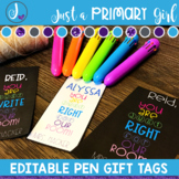 Editable Gift Tag - pen