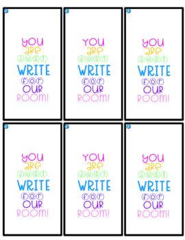 Editable Gift Tag - pen