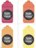 Editable Gift Tags (Large Size)
