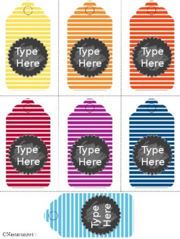 Editable Gift Tags (Medium Size)