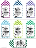 Editable  Gift Tags With Panda(Medium Size)