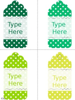 Editable Gift Tags Polka Dot