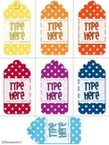 Editable Gift Tags Polka Dot (Medium Size)